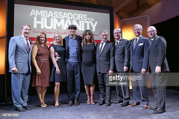 Honoree William Clay Ford, Jr., Lisa Ford, Kim Taylor, musician James Taylor, actress Halle Berry, USC Shoah Foundation founder Steven Spielberg,...
