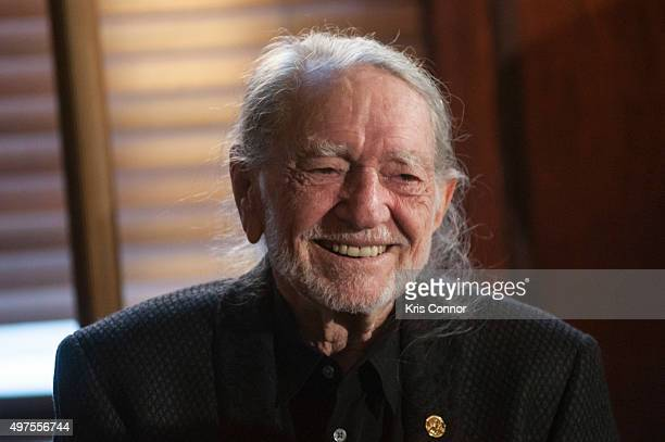 Honoree Willie Nelson attends the 2015 Gershwin Prize Luncheon where he was presented with a certificate and an American Flag in the Thomas Jefferson...