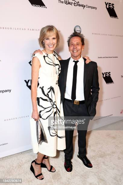 Honoree Willow Bay and Brian Grazer attend the YES 20th Anniversary Gala on September 23, 2021 in Los Angeles, California.