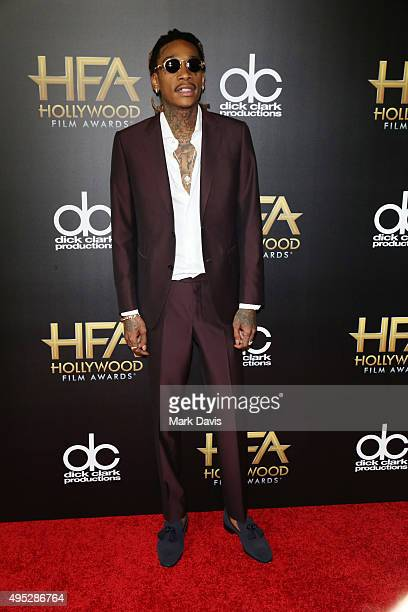 Honoree Wiz Khalifa attends the 19th Annual Hollywood Film Awards at The Beverly Hilton Hotel on November 1 2015 in Beverly Hills California