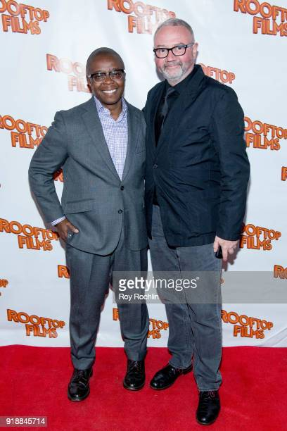 Honoree Yance Ford and Simon Kilmurry attend the 2nd Annual Rooftop Gala at St Bart's Church on February 15 2018 in New York City