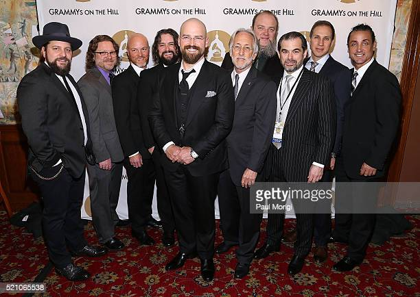 Honoree Zac Brown Neil Portnow President and CEO of The Recording Academy SESAC Chairman John Josephson and members of the Zac Brown Band pose for a...