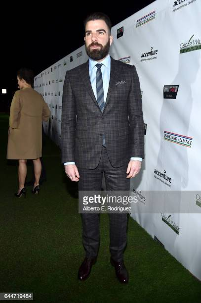 Honoree Zachary Quinto attends the 12th Annual USIreland Aliiance's Oscar Wilde Awards event at Bad Robot on February 23 2017 in Santa Monica...
