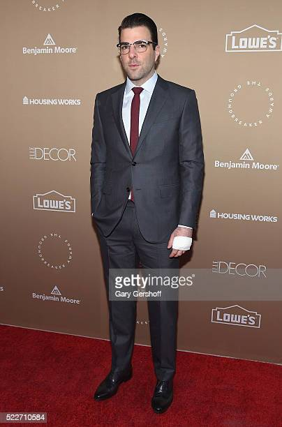 Honoree Zachary Quinto attends the Housing Works Groundbreaker Awards Dinner at Metropolitan Pavilion on April 20 2016 in New York City