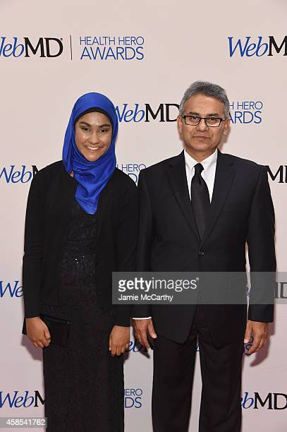 Honoree Zarin Ibnat Rahman and Shafiqur Rahman attend the 2014 Health Hero Awards hosted by WebMD at Times Center on November 6 2014 in New York City