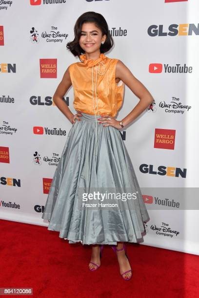Honoree Zendaya at the 2017 GLSEN Respect Awards at the Beverly Wilshire Hotel on October 20 2017 in Los Angeles California