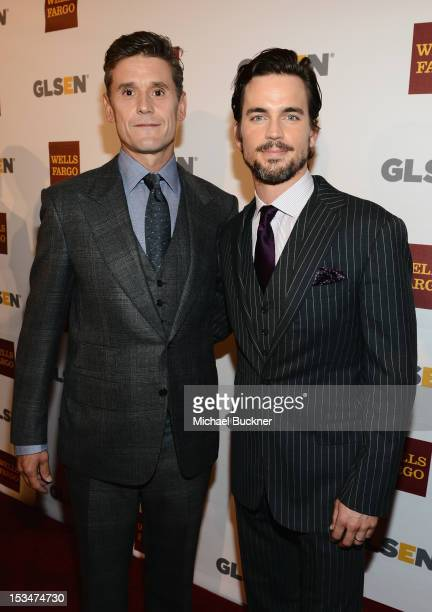 Honoree2012 Inspiration Award Simon Halls and actor Matt Bomer arrive at the 8th Annual GLSEN Respect Awards held at Beverly Hills Hotel on October 5...