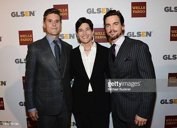 Honoree2012 Inspiration Award Simon Halls Dr Eliza Byard and actor Matt Bomer arrive at the 8th Annual GLSEN Respect Awards held at Beverly Hills...