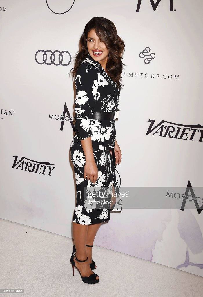 Honoree/actress Priyanka Chopra arrives at the Variety's Power Of Women: Los Angeles at the Beverly Wilshire Four Seasons Hotel on October 13, 2017 in Beverly Hills, California.