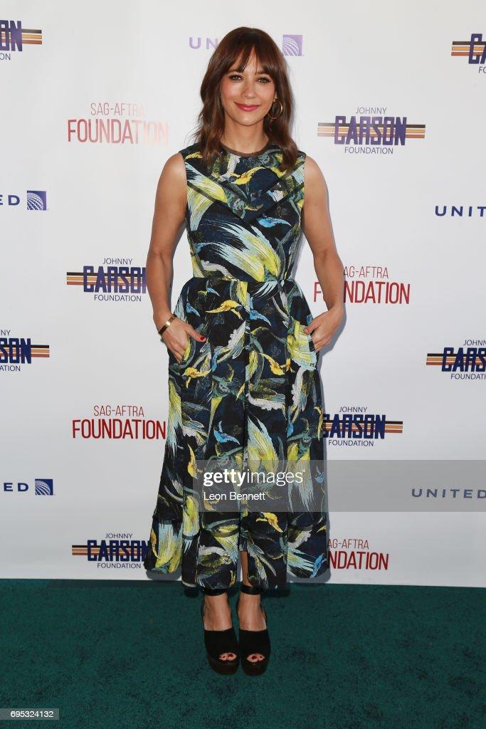 Honoree/actress Rashida Jones arrives at SAG-AFTRA Foundation's 8th Annual Los Angeles Golf Classic on June 12, 2017 in Burbank, California.