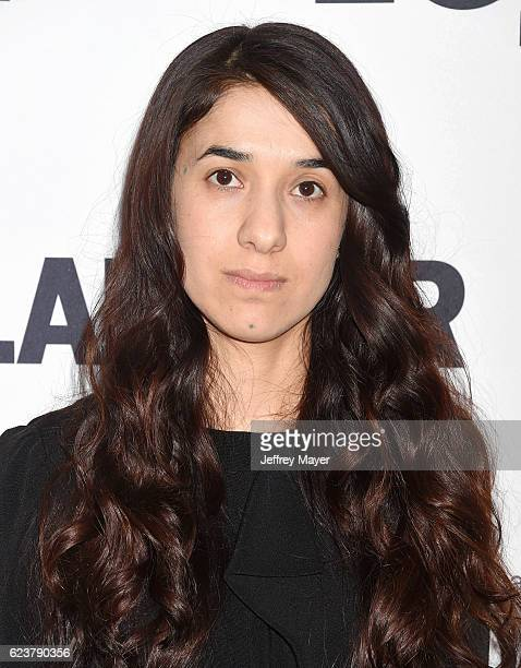 Honoree/AntiIsis activist Nadia Murad arrives at the Glamour Women Of The Year 2016 at NeueHouse Hollywood on November 14 2016 in Los Angeles...