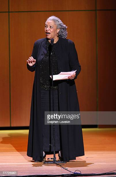 """Honoree/author Toni Morrison on stage during the 2007 """"Glamour Women of The Year"""" award ceremony at Lincoln Center on November 5, 2007 in New York..."""
