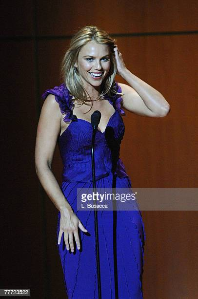Honoree/CBS news correspondent Lara Logan on stage during the Glamour Magazine 2007 Women of The Year Awards at Lincoln Center's Avery Fisher Hall on...