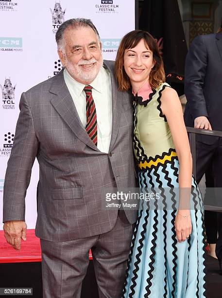 Honoree/director Francis Ford Coppola and his granddaughter/director Gia Coppola attend his Hand and Footprint Ceremony at TCL Chinese Theatre IMAX...