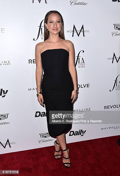 Honoree/jewelry designer Jennifer Meyer attends the Daily Front Row 'Fashion Los Angeles Awards' at Sunset Tower Hotel on March 20 2016 in West...