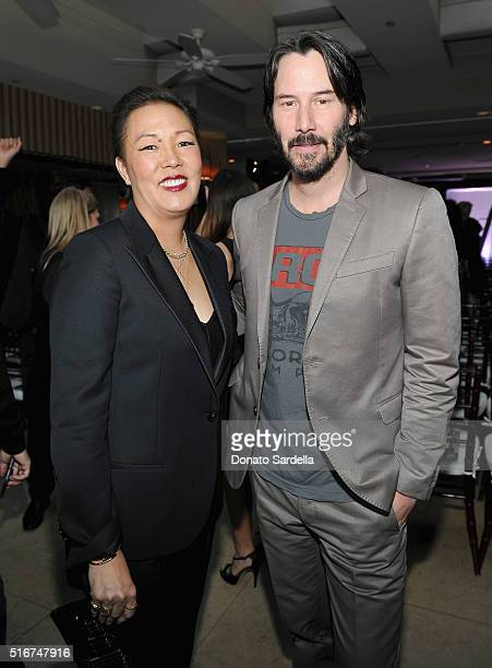 Honoree/men's stylist Jeanne Yang and presenter/actor Keanu Reeves attend The Daily Front Row 'Fashion Los Angeles Awards' 2016 at Sunset Tower Hotel...