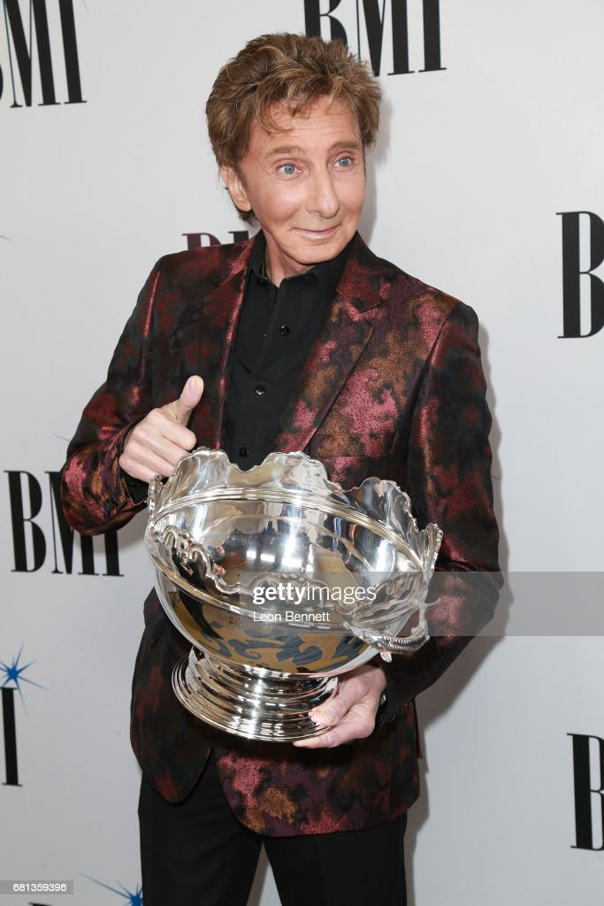 Honoree/Music artist Barry Manilow arrives at the 65th Annual BMI Pop Awards at the Beverly Wilshire Four Seasons Hotel on May 9, 2017 in Beverly Hills, California.