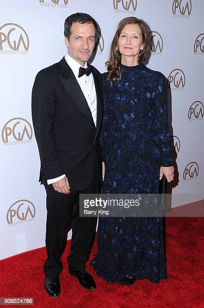 Honoree/producer David Heyman and wife Rose Uniacke attend the 27th Annual Producers Guild Of America Awards at the Hyatt Regency Century Plaza on...