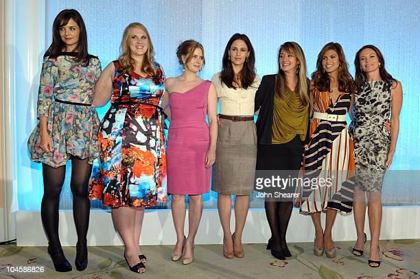 Honorees actress Katie Holmes Shannon Lambert actress Amy Adams actress Jennifer Garner producer Suzan Bymel actress Eva Mendes and actress Diane...