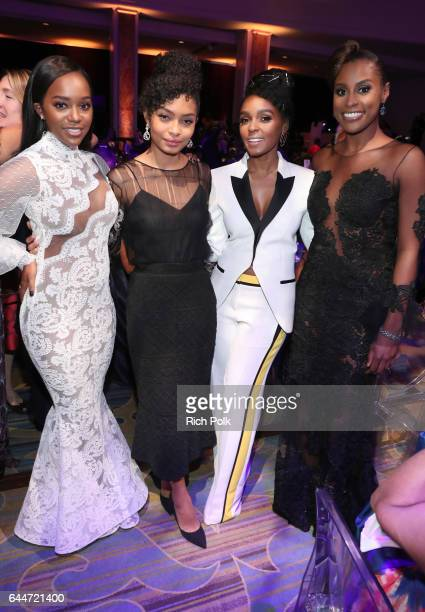 Honorees Aja Naomi King Yara Shahidi Janelle Monae and Isse Rae at Essence Black Women in Hollywood Awards at the Beverly Wilshire Four Seasons Hotel...