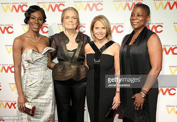 Honorees Amma Asante Gloria Steinem Katie Couric and Ursula M Burns attend the 2014 Women's Media Awards at Capitale on October 29 2014 in New York...