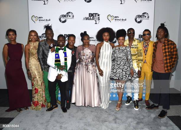 Honorees and hosts attend the 2017 BET International Awards Presentation at Microsoft Theater on June 24 2017 in Los Angeles California