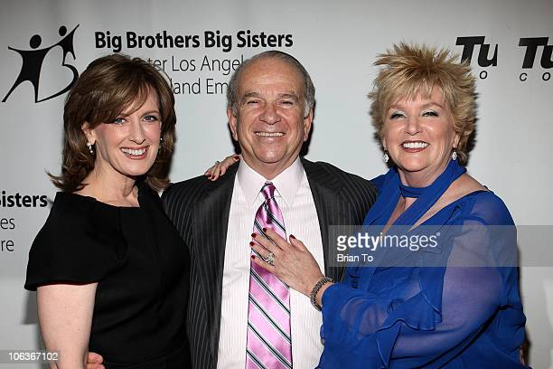 Honorees Anne Sweeney Ronald N Tutor and Mary Willard attend Big Brothers Big Sisters 2010 Rising Stars Gala at The Beverly Hilton hotel on October...