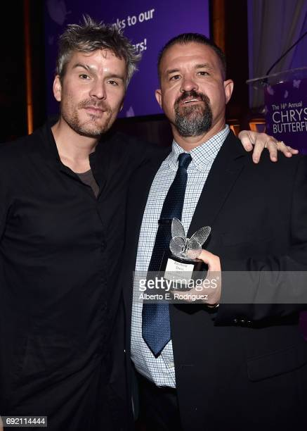 Honorees Balthazar Getty and Raymond Davis at the 16th Annual Chrysalis Butterfly Ball on June 3 2017 in Los Angeles California