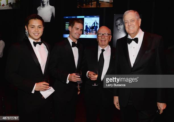 Honorees Bobby Murphy and Evan Spiegel Rupert Murdoch and honoree David H Koch attend the TIME 100 Gala TIME's 100 most influential people in the...