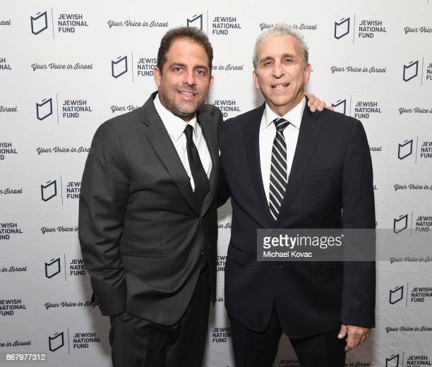 Honorees Brett Ratner and David Frank attend the Jewish National Fund Los Angeles Tree Of Life Dinner at Loews Hollywood Hotel on October 29 2017 in...