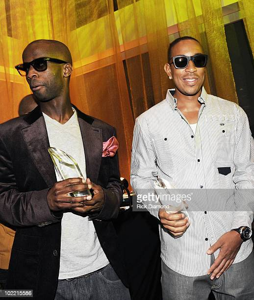 Honorees Bryan Michael Cox and Chris 'Ludacris' Bridges during The Magnum Live Large Project VIP Party at Ventanas on June 18 2010 in Atlanta Georgia