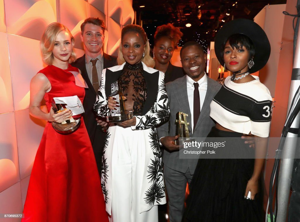 Honorees Carey Mulligan, Garrett Hedlund, Mary J. Blige, Dee Rees, Jason Mitchell, and Janelle Monae, recipients of the Hollywood Breakout Ensemble Award for 'Mudbound,' attend the 21st Annual Hollywood Film Awards at The Beverly Hilton Hotel on November 5, 2017 in Beverly Hills, California.