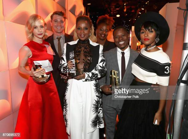 Honorees Carey Mulligan Garrett Hedlund Mary J Blige Dee Rees Jason Mitchell and Janelle Monae recipients of the Hollywood Breakout Ensemble Award...