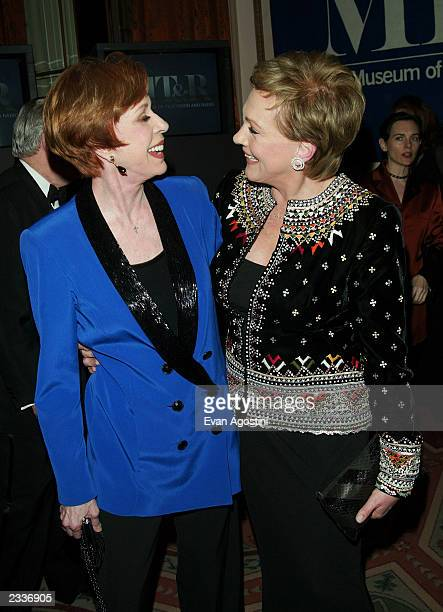 Honorees Carol Burnett and Julie Andrews attends The Museum of Television Radio's Annual Honors Gala at the WaldorfAstoria February 5 2003 in New...
