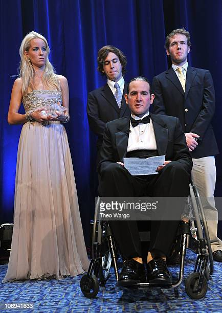 Honorees Carolina GonzalezBunster Luis GonzalezBunster Matias GonzalezBunster and Diego GonzalezBunster pose onstage at the Christopher Dana Reeve...