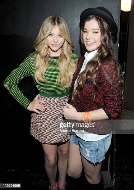 Honorees Chloe Moretz and Hailee Steinfeld attend Variety's 5th annual Power Of Youth event presented by The Hub at Paramount Studios on October 22...