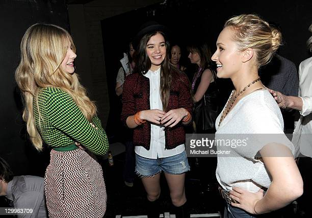Honorees Chloe Moretz Hailee Steinfeld and Hayden Panettiera attends Variety's 5th annual Power Of Youth event presented by The Hub at Paramount...