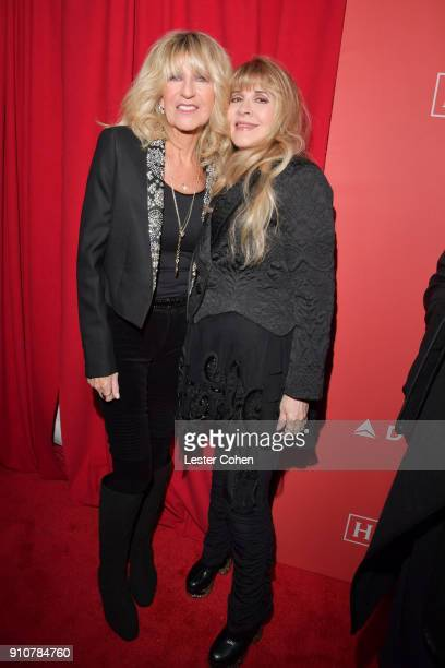 Honorees Christine McVie and Stevie Nicks of Fleetwood Mac attend MusiCares Person of the Year honoring Fleetwood Mac at Radio City Music Hall on...