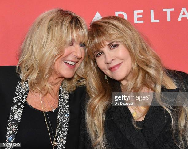 Honorees Christine McVie and Stevie Nicks of music group Fleetwood Mac attend MusiCares Person of the Year honoring Fleetwood Mac at Radio City Music...