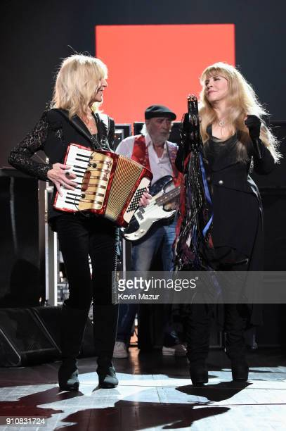 Honorees Christine McVie and Stevie Nicks perform onstage during MusiCares Person of the Year honoring Fleetwood Mac at Radio City Music Hall on...