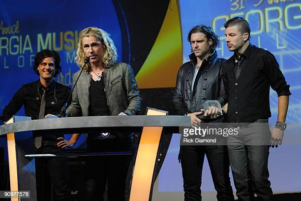 Honorees Collective Soul Joel Kosche Ed Roland Dean Roland and Will Turpin at the 31st Annual Georgia Music Hall of Fame Awards held at The Georgia...