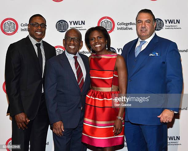 Honorees Curtis Granderson Al Roker Deborah Roberts and John Koudounis attend the 2016 CollegeBound Initiative Celebration at Jazz at Lincoln Center...