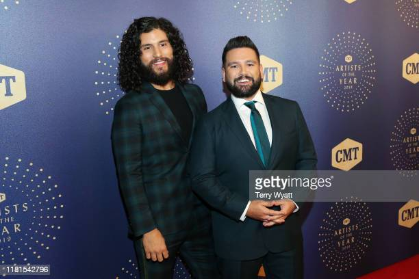 Honorees Dan Smyers and Shay Mooney of Dan Shay attend the 2019 CMT Artist of the Year at Schermerhorn Symphony Center on October 16 2019 in...