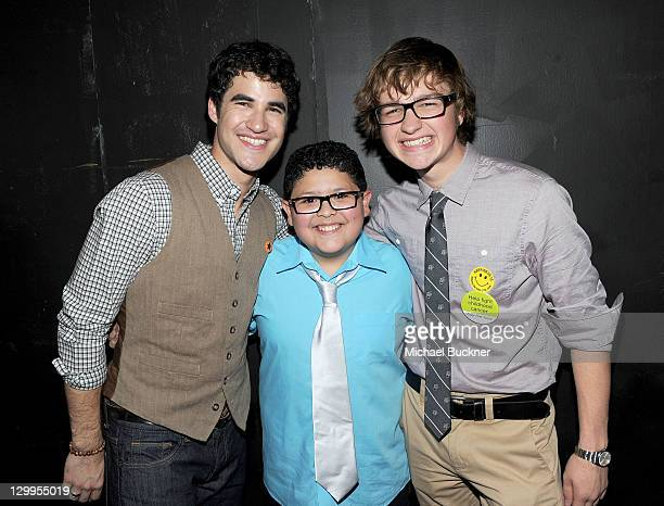 Honorees Darren Criss Rico Rodriguez and Angus T Jones attend Variety's 5th annual Power Of Youth event presented by The Hub at Paramount Studios on...