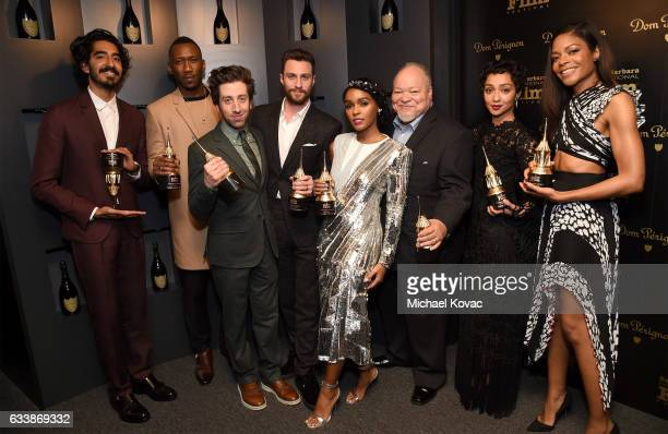 Honorees Dev Patel Mahershala Ali Simon Helberg Aaron Taylor Johnson Janelle Monae Stephen Henderson Ruth Negga and Naomie Harris visit the Dom...