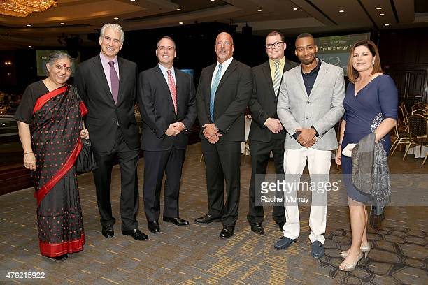 Honorees Dr Vandana Shiva The Angeleno Group CoFounders Daniel Weiss and Yaniv Tepper President and CEO Global Green USA Dr Les McCabe Honorees Jeff...