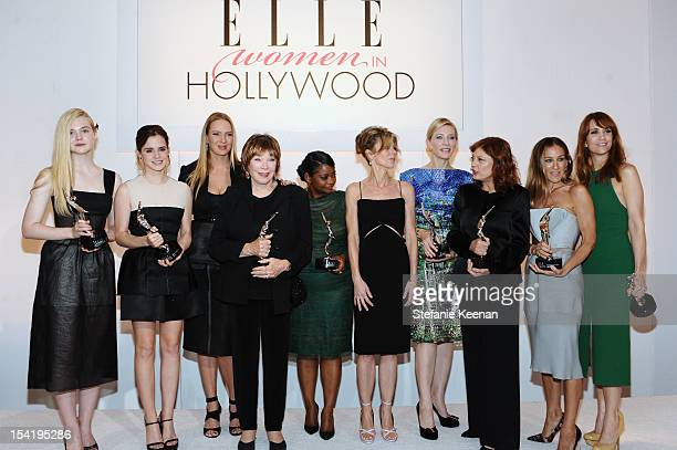 Honorees Elle Fanning Emma Watson Shirley MacLaine ELLE Magazine Editorinchief Robbie Myers honorees Uma Thurman Octavia Spencer Cate Blanchett Susan...