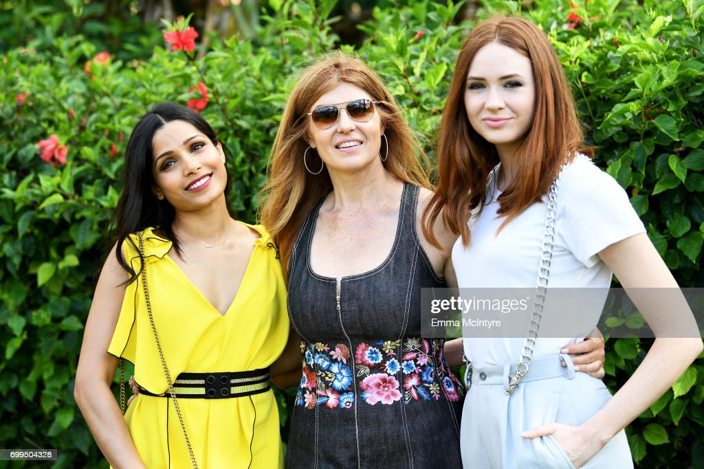 Honorees Freida Pinto, Connie Britton and Karen Gillan attend 'Taste of Summer' during day one of the 2017 Maui Film Festival At Wailea on June 21, 2017 in Wailea, Hawaii.