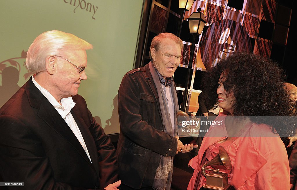 Honorees George Jones, Glen Campbell and Diana Ross attend The 54th Annual GRAMMY Awards - Special Merit Awards Ceremony And Nominee Reception at The Wilshire Ebell Theatre on February 11, 2012 in Los Angeles, California.