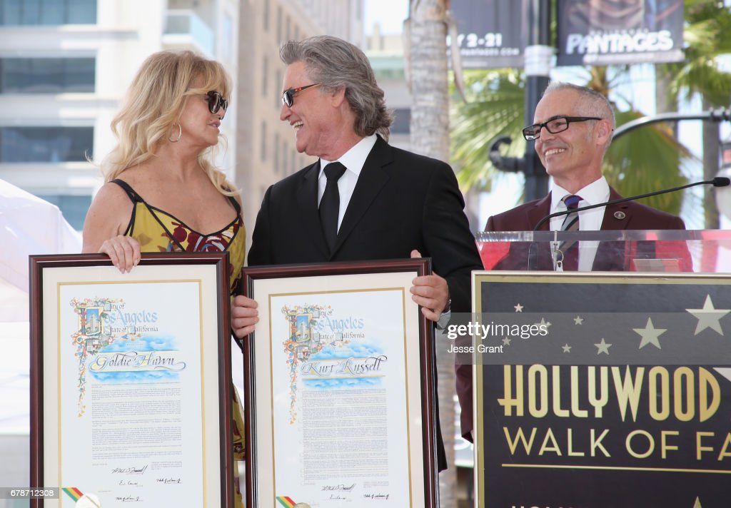 Goldie Hawn and Kurt Russell are honored with a Star On the Hollywood Walk of Fame : News Photo